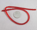 Red Glass Round Beads 4mm (1346)