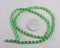 Green Faceted Oval Glass Beads 4x6mm (0498)