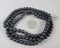 "Black Frosted Glass Beads 31"" Various Sizes"