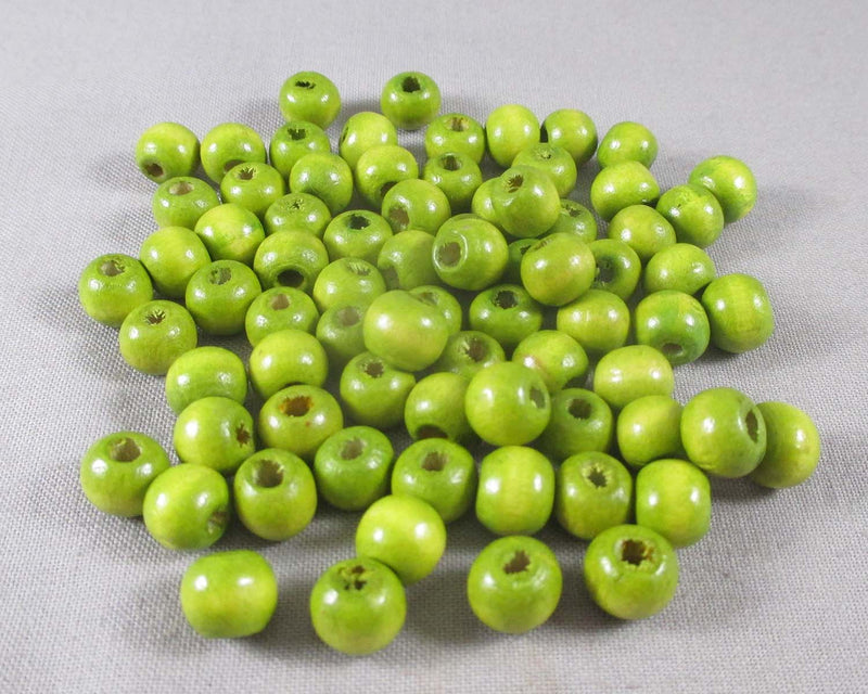 Green Wood Beads 8mm Round 150pcs (A184)