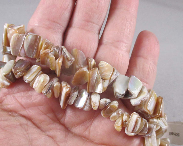Brown Shell Chip Beads (Z130*)