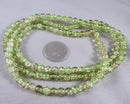 Yellow / Green Crackle Glass Bead Strand 6mm (1150)