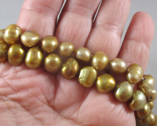 Goldenrod Cultured Pearls 10mm (Z140)
