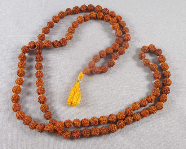 108 Bead Rudraksha Seed Mala Necklace (Knotted) 1pc Z142