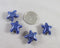 Starfish Porcelain Beads Dark Blue 4pcs (1049)