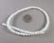 "White Glass Beads 15"" Strand (Z168)"
