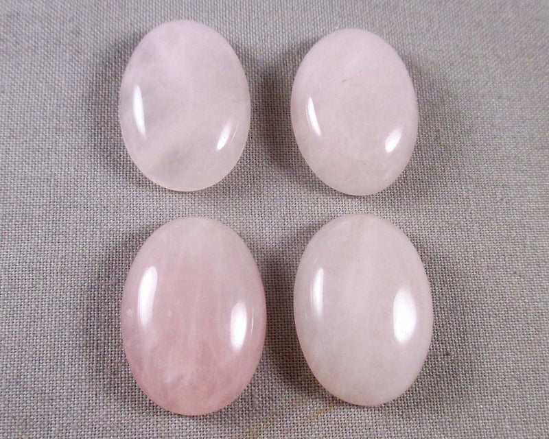 Rose Quartz Cabochon 1pc 25x18mm (1097)