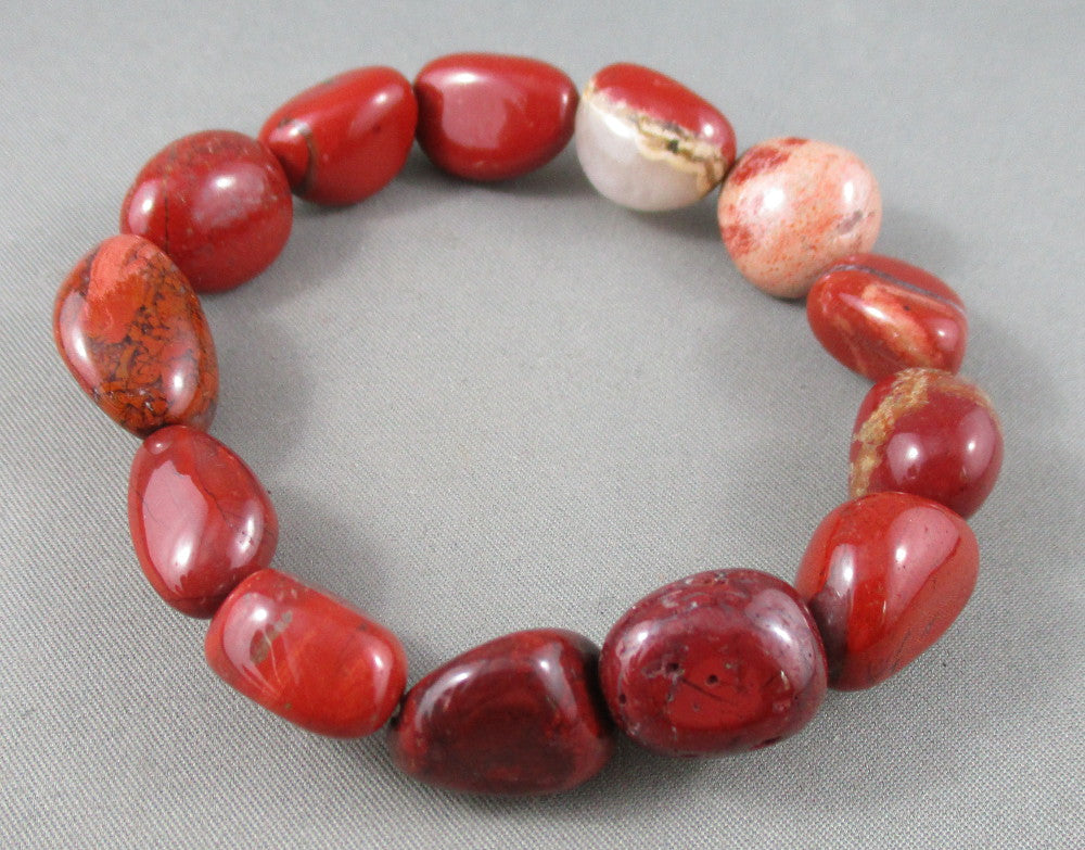 brecciated red jasper bracelet