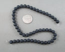 Black Agate Bead Strand Frosted Round Various Sizes