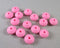 Hot Pink Silicone Beads 15mm Abacus (Food Grade) 15pcs (Z218)