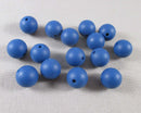 Marine Blue Silicone Beads 12mm Round (Food Grade) 15pcs (Z222)