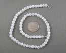 White Crackle Quartz Bead Strand Round Various Sizes