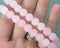 Rose Quartz Bead Strand Frosted Round Various Sizes