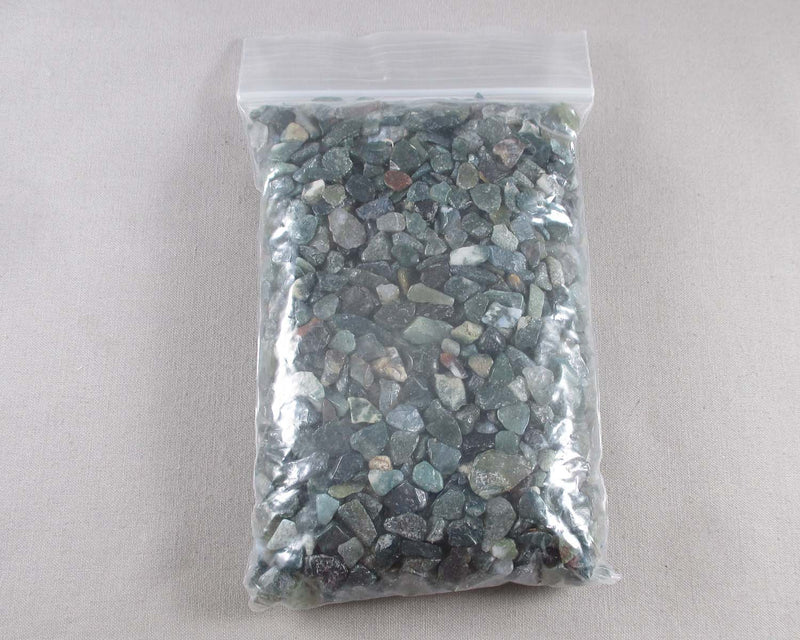 Moss Agate Stone Chips (Undrilled)