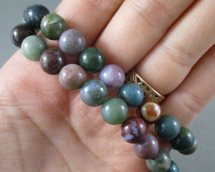 Fancy Jasper Bead Strand Round Various Sizes