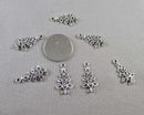 Christmas Tree Charms Silver Tone 12pcs (0847-1)