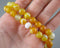 "Yellow Banded Agate Beads Round 8mm - 15"" Strand (1284)"