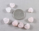 Rose Quartz Heart Beads 10mm 8pcs (1160)
