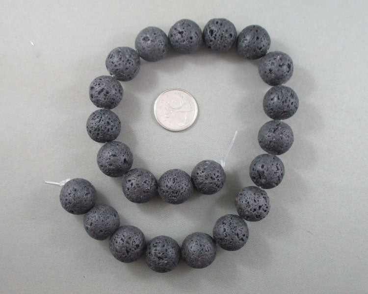 Lava Beads Round Waxed Various Sizes