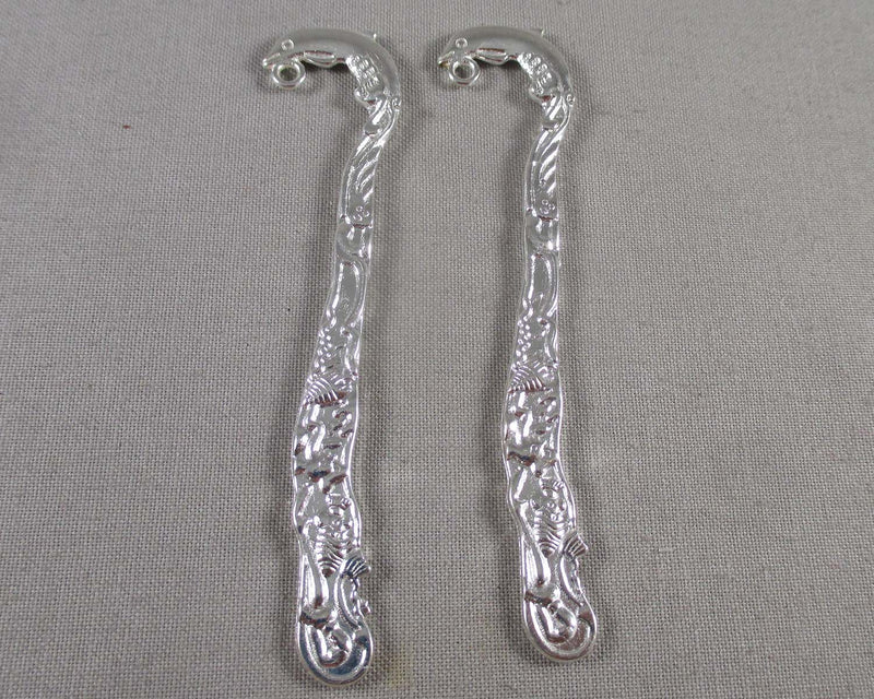 Dolphin Bookmark Charms Silver Tone 2pcs (2048)