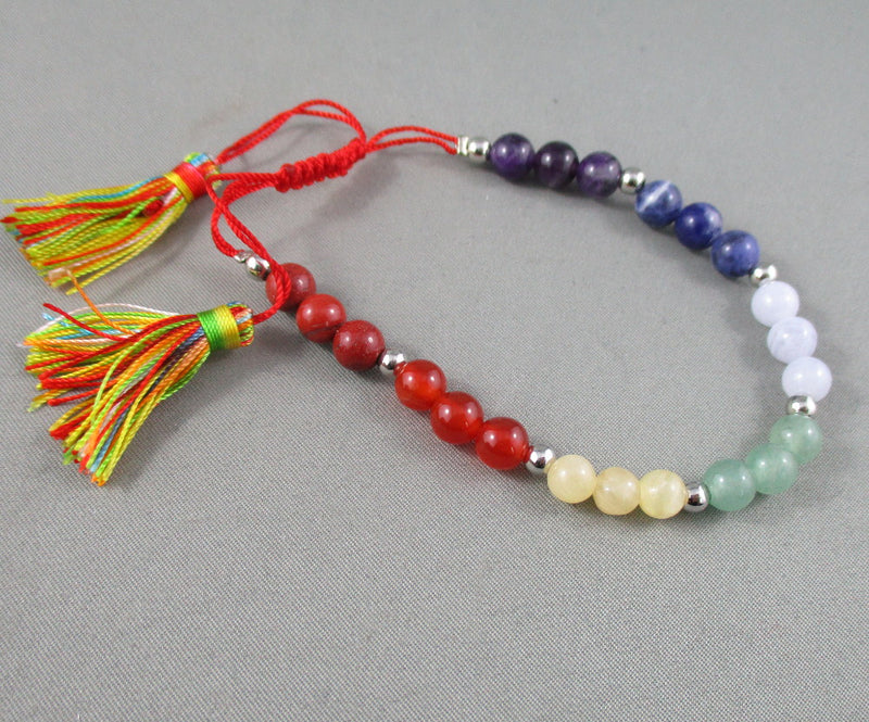 Chakra Stone Healing Bracelet (Adjustable) 1pc T526
