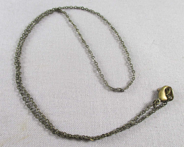 Antique Bronze Tone Brass Cable Chain Necklace 18""