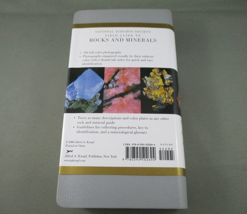 National Audubon Society Field Guide to North American Rocks and Minerals Book (N004)