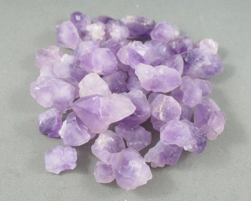 Amethyst Crystal Points Bi-Terminated Raw 3pcs T546