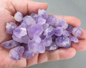 amethyst points bi-terminated