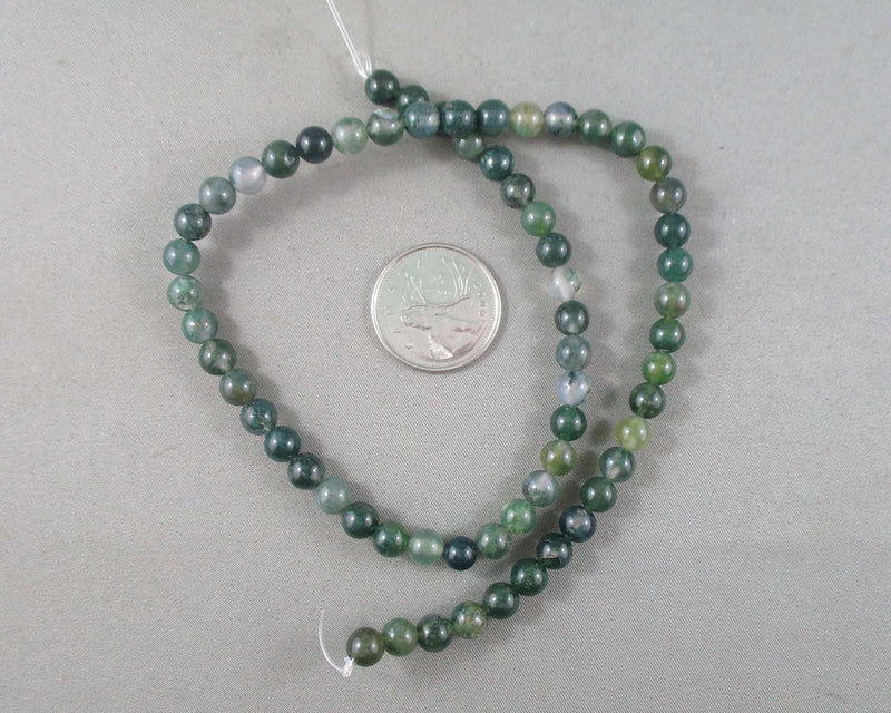 Moss Agate Beads Round Various Sizes