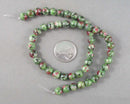 "Ruby Zoisite Beads Round 8mm 15"" Strand (1037)"