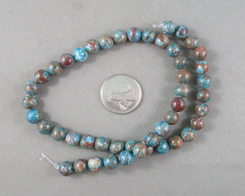 "Chrysocolla Beads Round 8mm 15.5"" Strand (1029)"