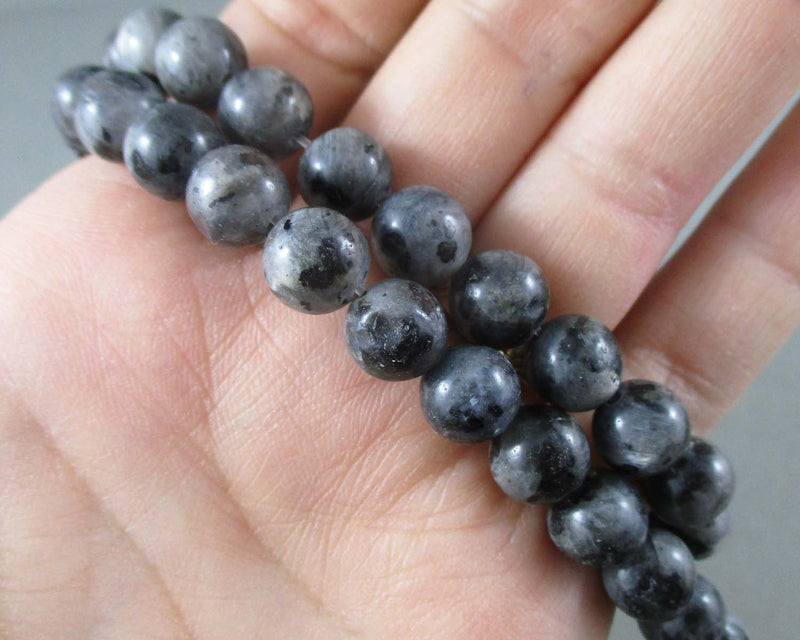 Larvikite Beads Round Various Sizes