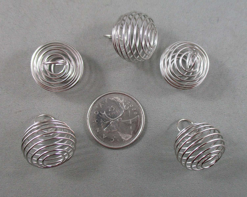 Silver Tone Cages for Stones  21x19mm 10pcs (3026*)