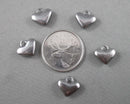 Heart Charms Stainless Steel 5pcs 12x11mm  (0331)
