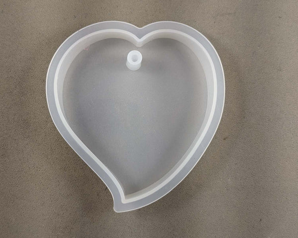Large Silicone Resin Mold Heart 7cm 1pc (2135)