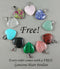Polished Chakra Stones Set with Sage A076