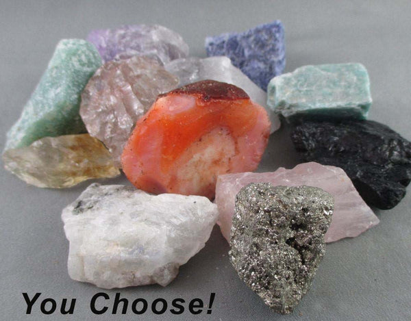 you choose 5 raw healing crystals
