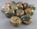 Rainforest Rhyolite Polished Stones 3pcs T154