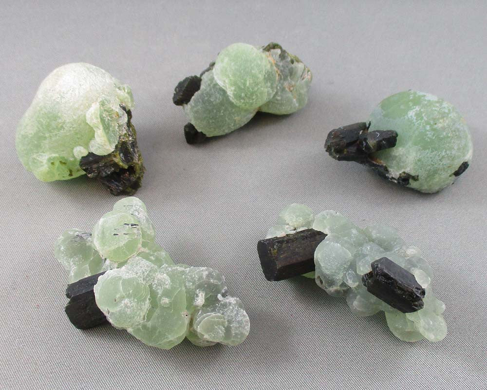 prehnite stone with epidote crystal