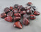 Red Tiger Eye Polished Stones 5pcs T034