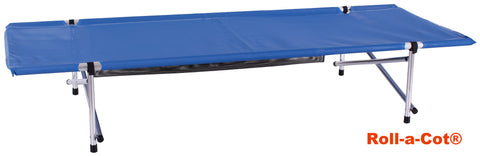 "Blemished Bargain Roll-a-Cot, Standard Blue Mesh, 74""x28""x15"""