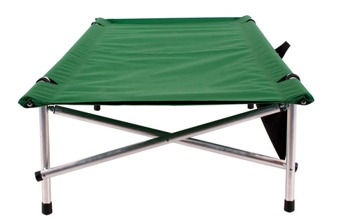 "Green Short length Ibex Roll-a-Cot ® (67""L x 28""W x 15""H), with sleeve for your air mattress"