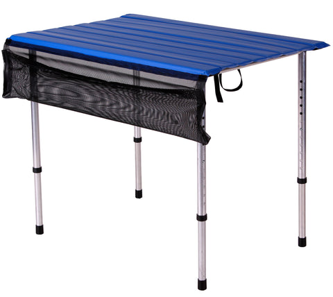 Narrow Roll-a-Table with Adjustable Legs