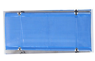 "Wide Blue Mesh fabric Top for the Wide Roll-a-Cot®, 32""W x 74""L"