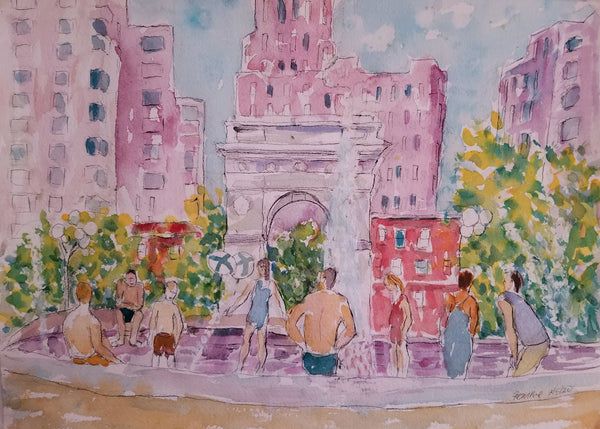 Bathers in Greenwich Village, Manhattan