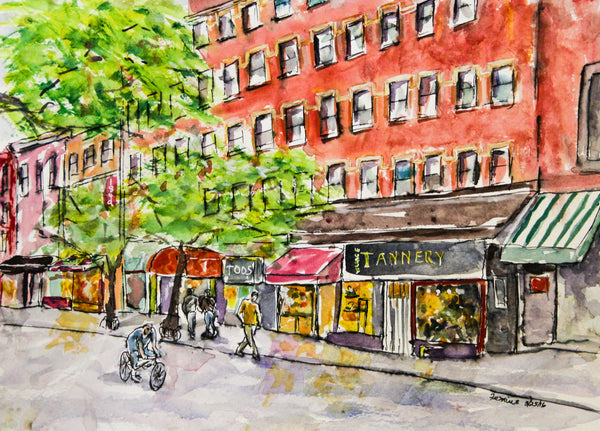 Bleeker Street, New York City, watercolor original