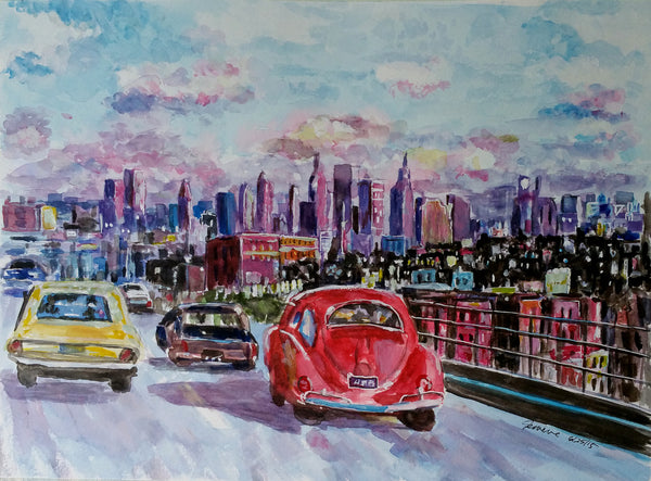 Manhattan skyline - print