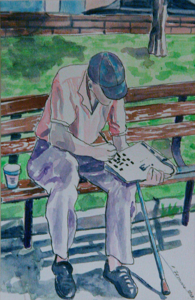 Retired Man Doing Crossword