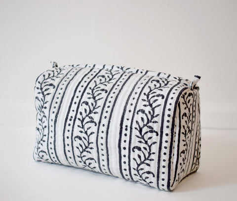 Black Tribal Toiletry Bag